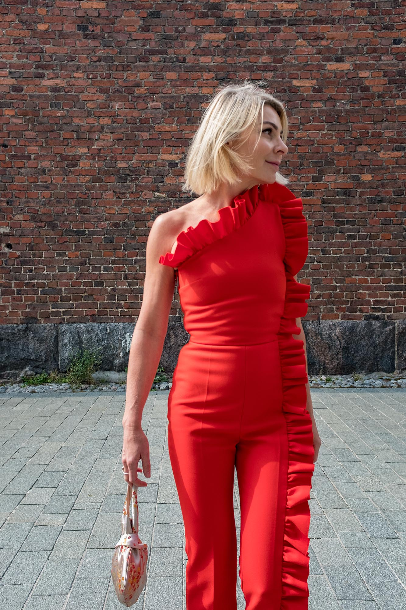 MSGM Red Jumpsuit