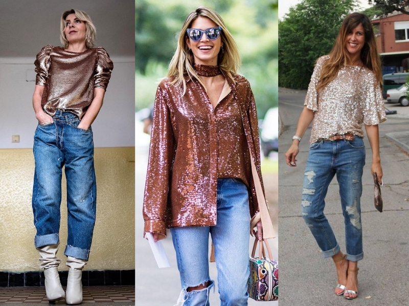 Sequin top styling